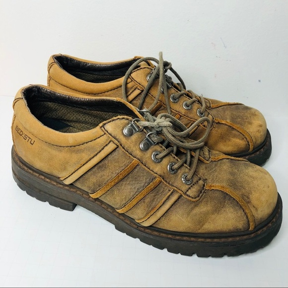 BED STU Leather lace up comfort tan Shoes 43/10.5